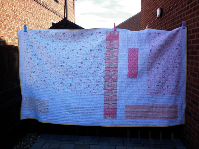 Fairy quilt - the back