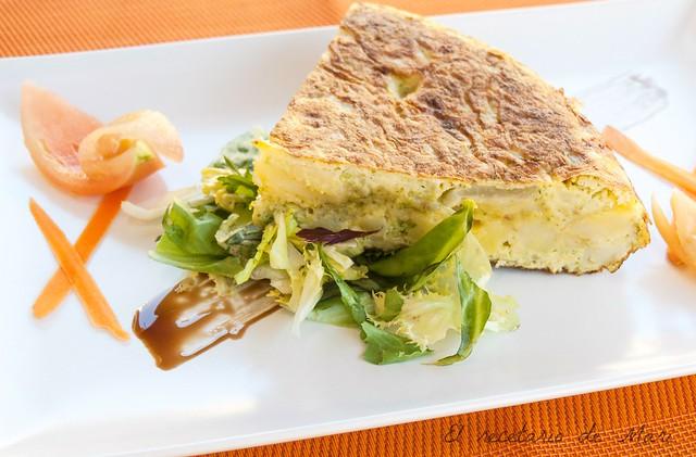 Tortilla de brócoli y queso 2
