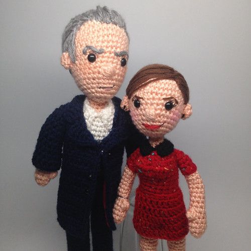 Doctor Who Crochet Amigurumi from CraftyIsCool - Twelf doctor and Clara Oswald