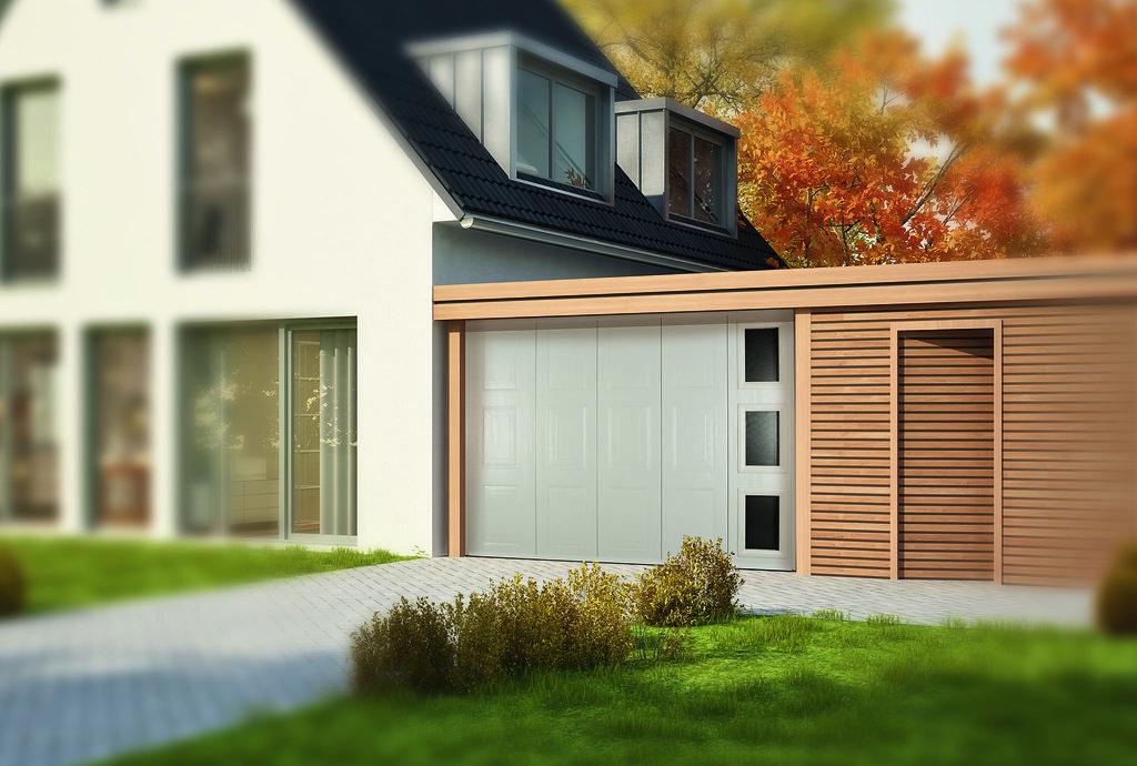 Haus Mit Carport Im Herbst Aludoor Flickr