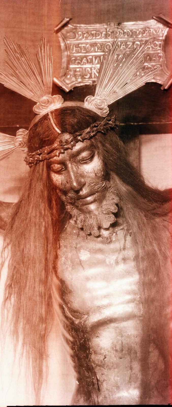 Cristo de las Aguas, Iglesia de la Magdalena. Fotografía de Rodríguez, años 20.
