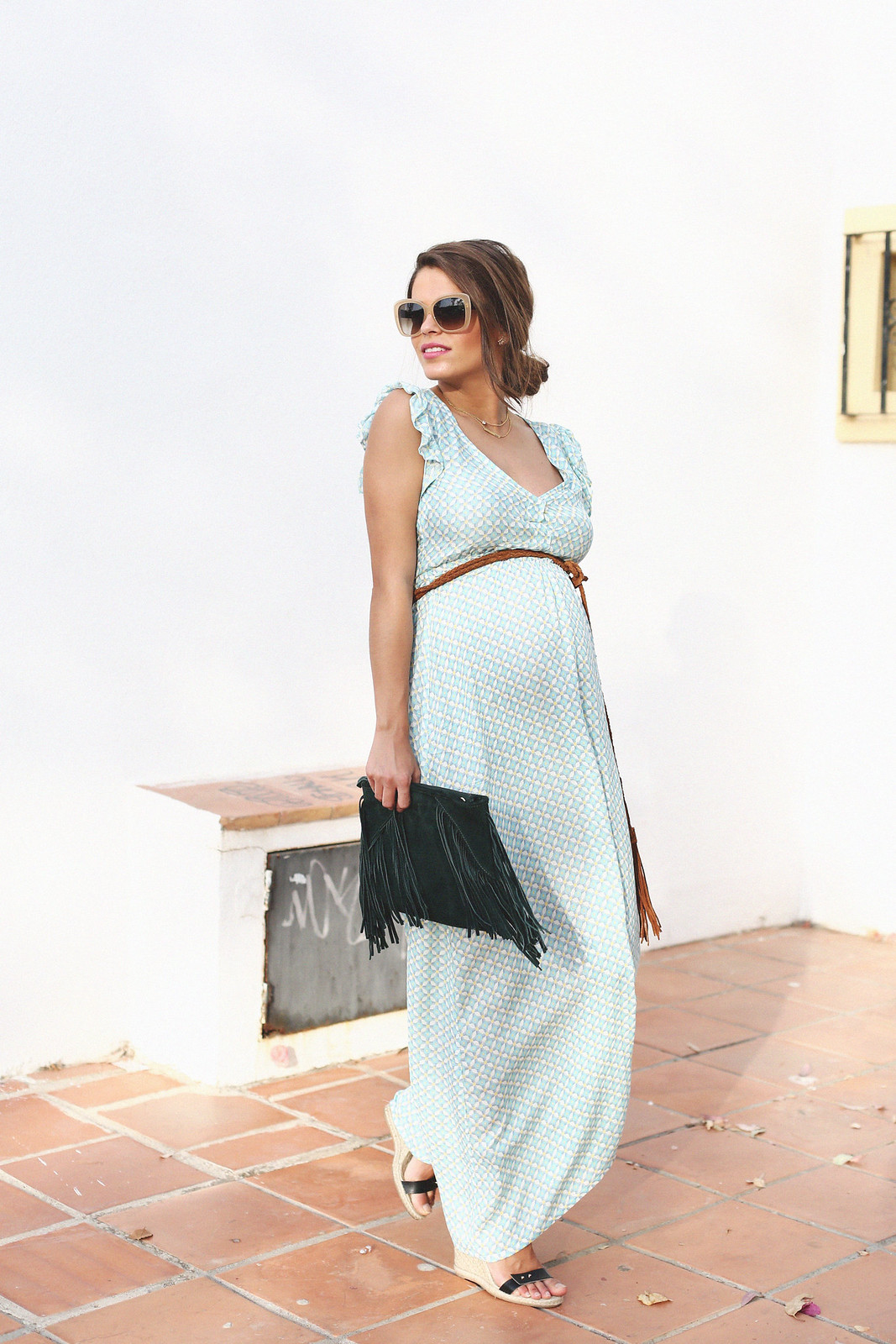 maternity long dress - 1