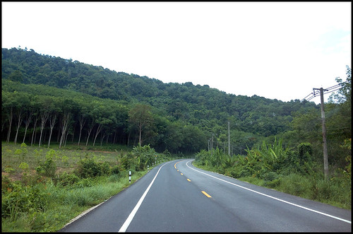 A nice road and green hills