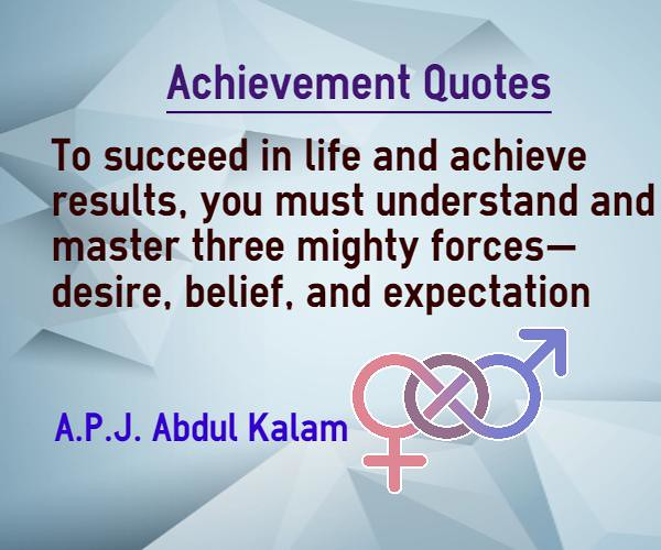 achievement quotes three mighty forces are desire belief a