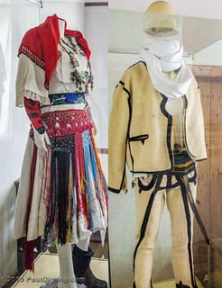 Female & Male Clothing on display in the Family House @ The Ethnological Museum - Pristina, Kosovo | by Paul Diming