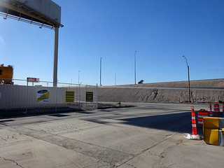 Wall Street, now a construction zone, near W Charleston Blvd in northern Las Vegas.