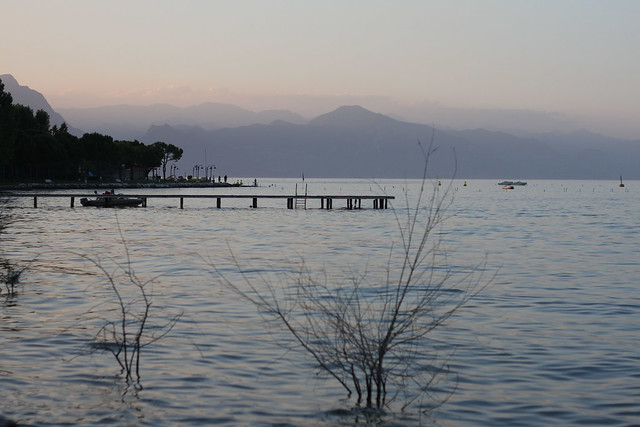 A beautiful evening in Lake garda