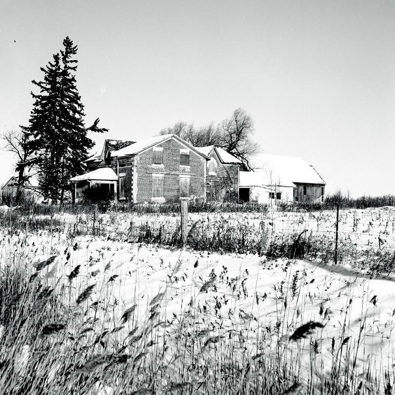Abandoned HIghway 10 Farmhouse