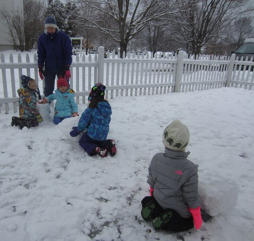 rolling the snowballs