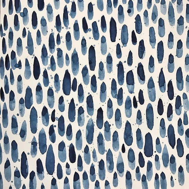 Day 24 #patternjanuary #rain This wasn't my first attempt, the first one was a flop but I really like how this one came out.