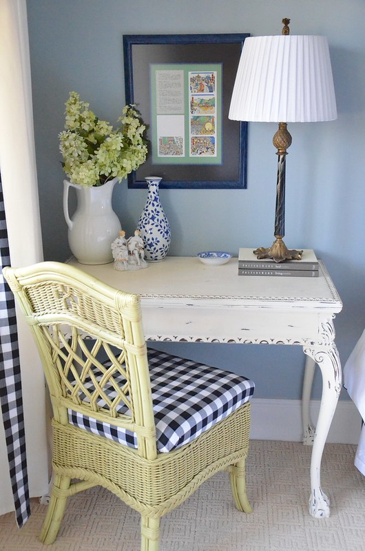Guest room side table/desk-Housepitality Designs