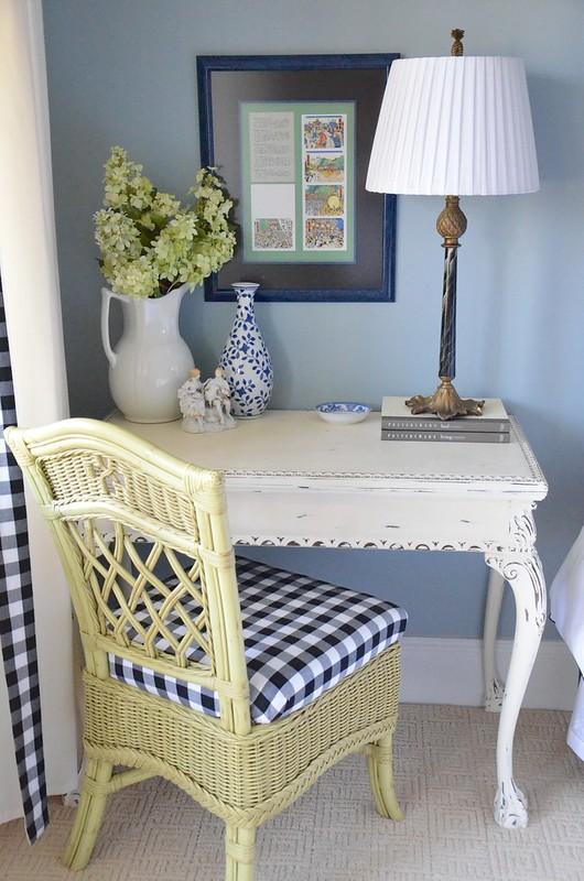 Guest room side table/desk-Housepitality Designs