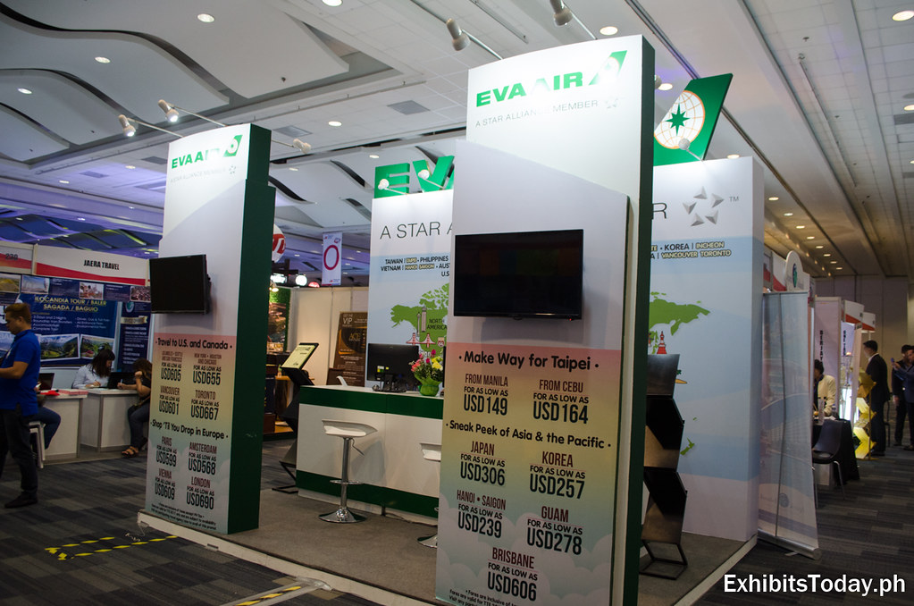 EVA Air Exhibit Booth