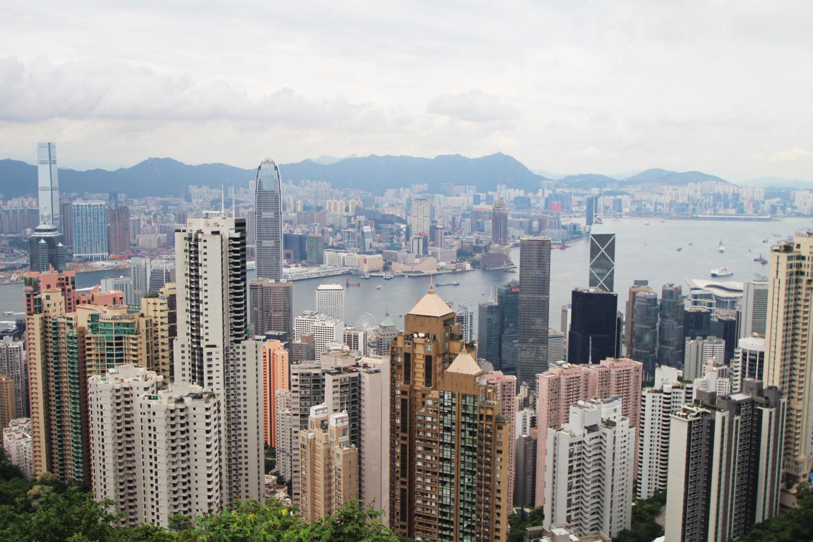 Victoria Peak view Hong Kong travel blogger