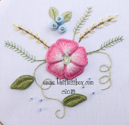 Pink Flower Stumpwork Embroidery Emily Flickr