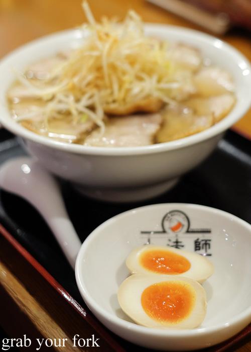 Nitamago soy sauce eggs at Bannai Shokudo, Kyoto Ramen Street inside Kyoto station, Japan
