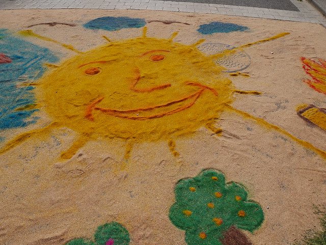 Sur les pavés, le soleil