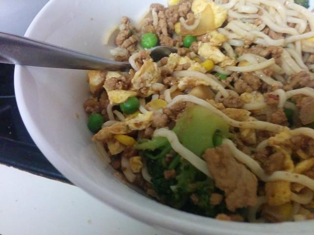 pork singapore style noodles