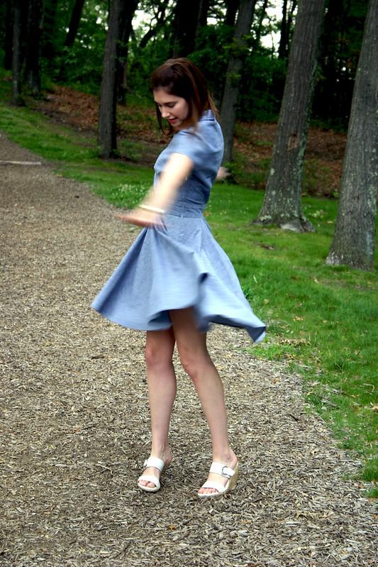 chambray dress 4