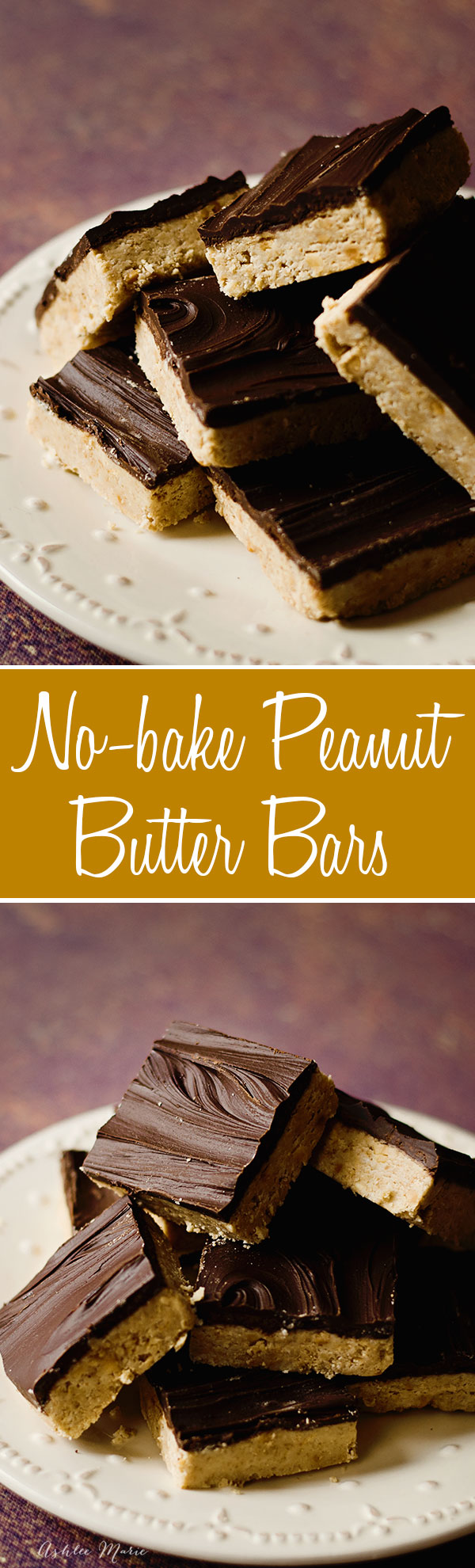 easy and delicious, no bake peanut butter bars covered in chocolate are always a huge hit