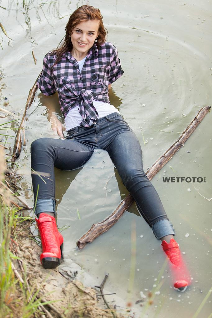 Wet tight panties