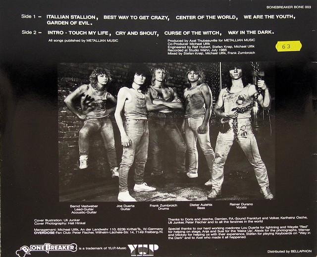 "OVERDOSE TIGHT ACTION 12"" vinyl LP"