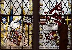angel with heraldic shields (Ninian Comper, 1901)