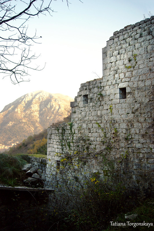 Стена крепости, вид изнутри