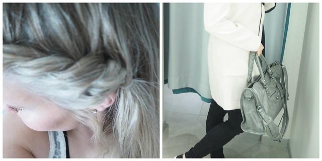 asuhkipic1, ootd, asu, päivänasu, päivän hiukset, hiukset, hair, kampaus, vaalea, letti, takki, vaal.pun.takki, asu kuva, outfitoftheday,