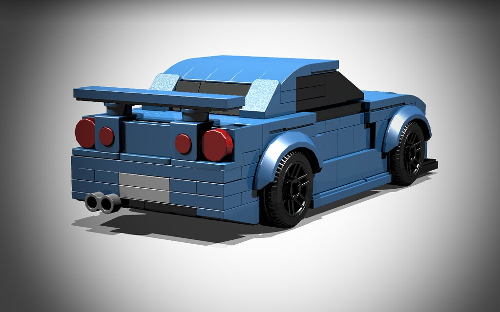 Lego Nissan Skyline R34 Rear Happy With This Though