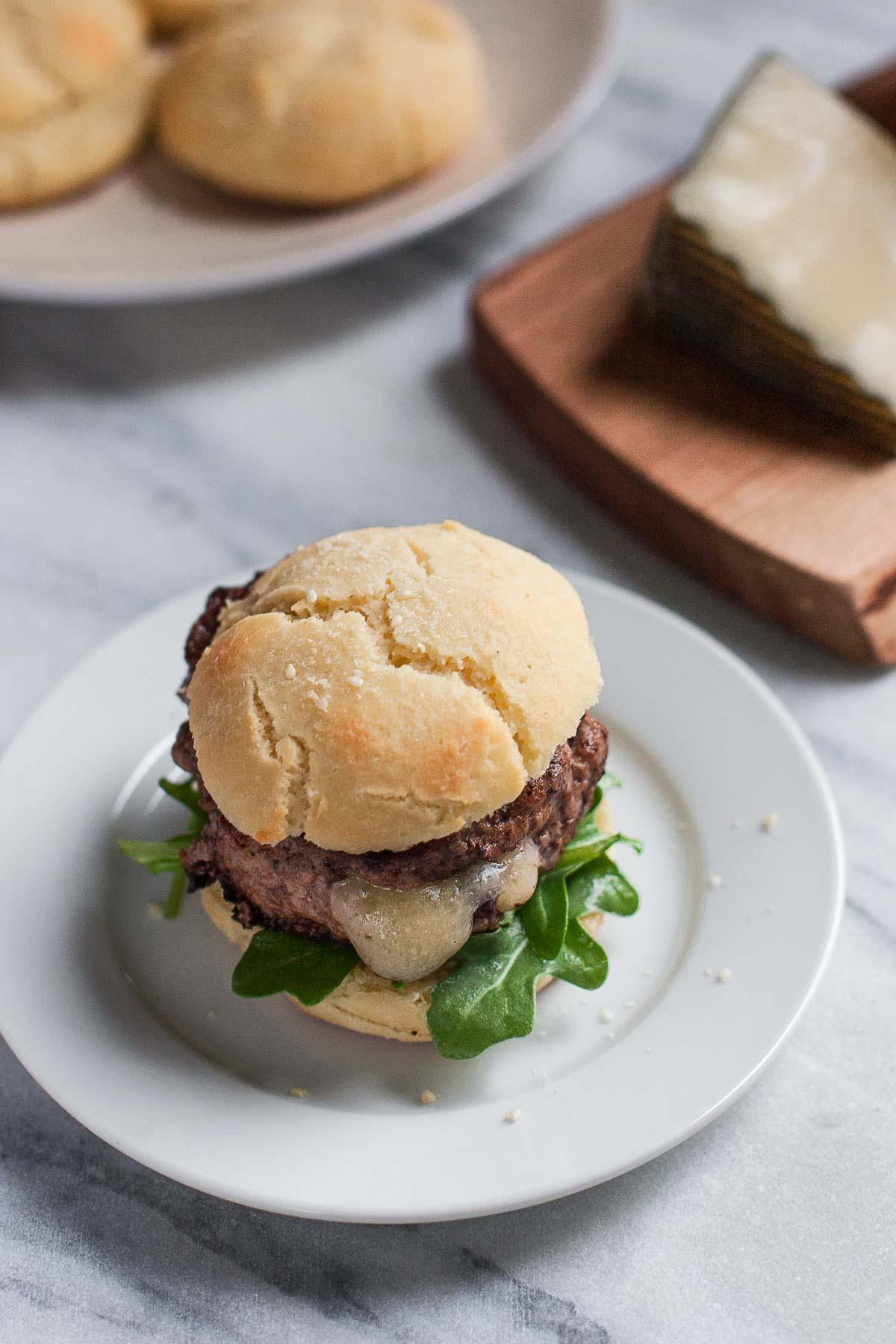 Stuffed Lamb Burgers + Paleo Burger Buns | acalculatedwhisk.com