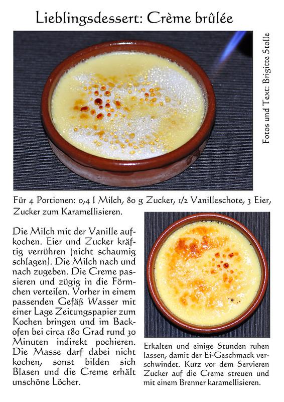 Pochierte Creme - Rezept Crème Brûlée - Karamellcreme - karamellisieren - Brenner - Dessert - Lieblingsdesserts - Fotos und Collagen: Brigitte Stolle Mannheim