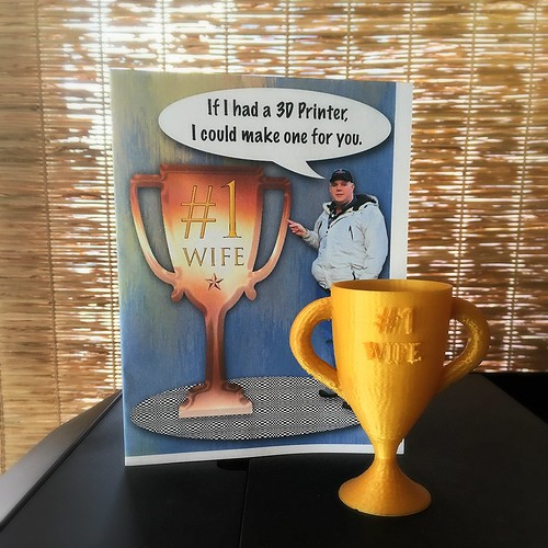3D Printed #1 Wife Trophy via foobella.blogspot.com