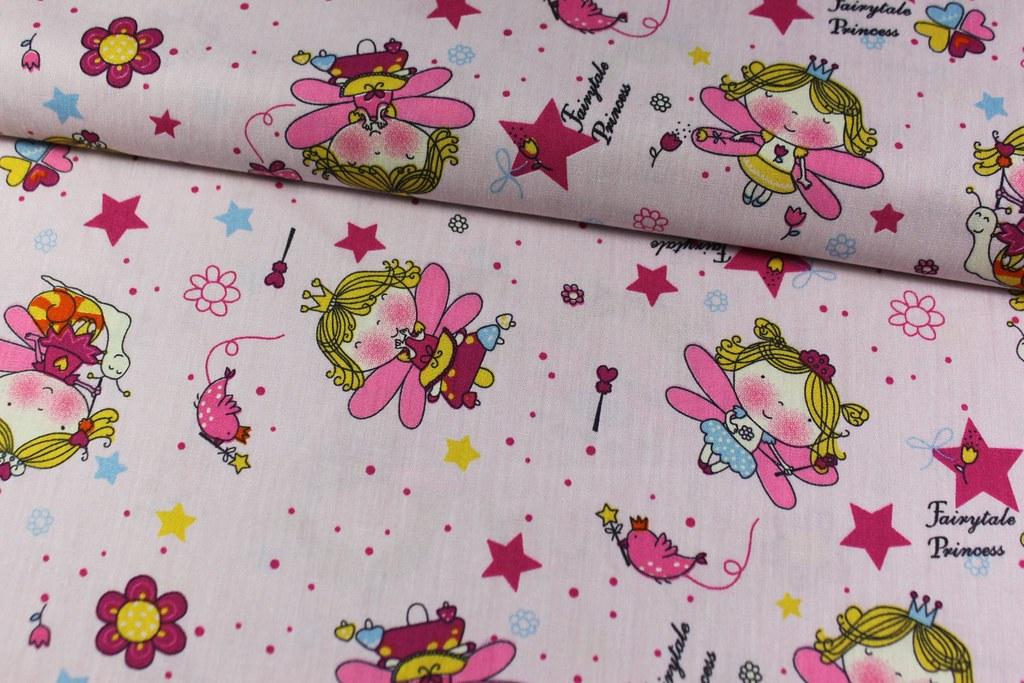 "Baumwollstoff ""Fairytale Princess"", rosa"