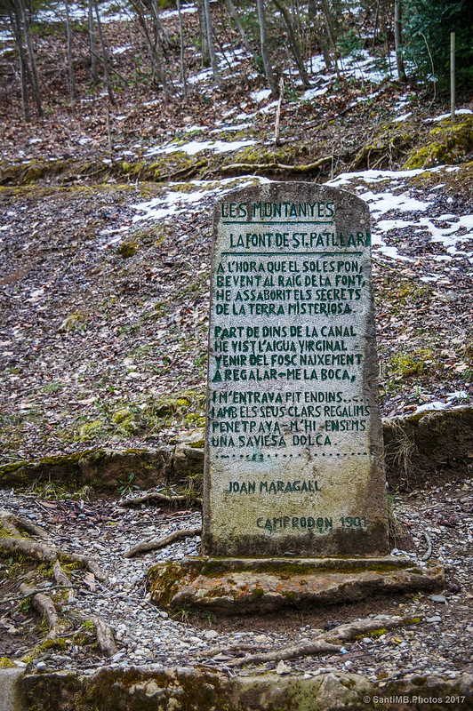 Poema de Joan Maragall inspirado por la Font de Sant Patllari