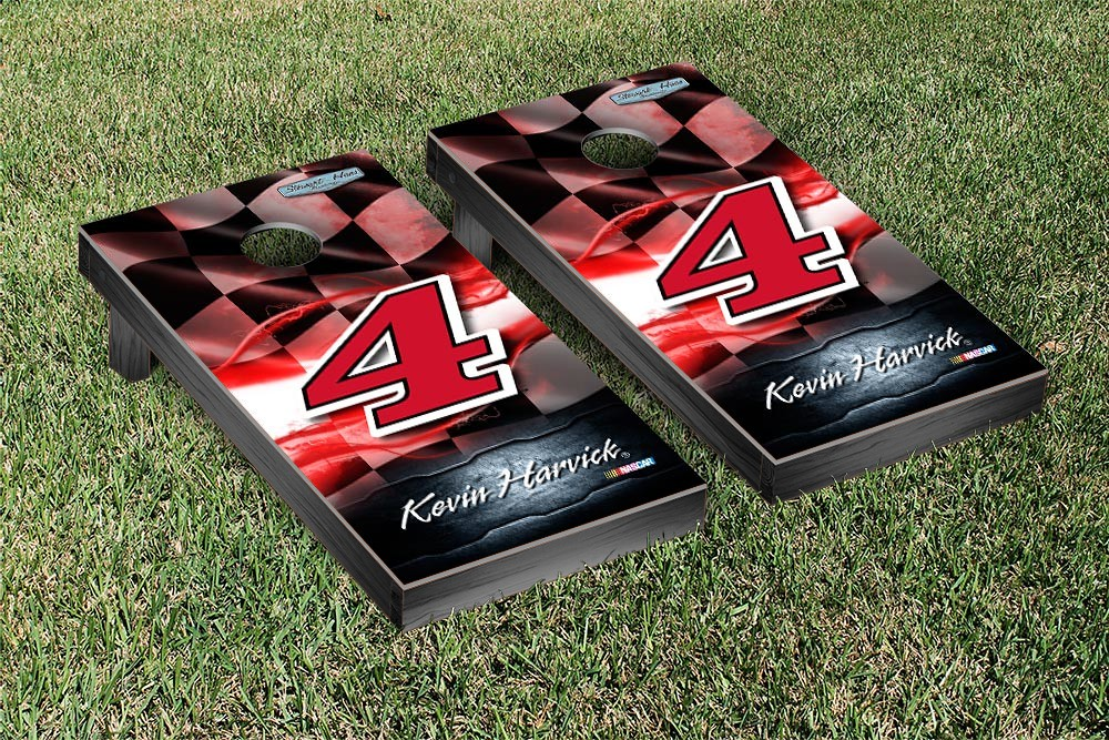KEVIN HARVICK #4 CORNHOLE GAME SET JIMMY JOHNS NIGHT LIGHT VERSION