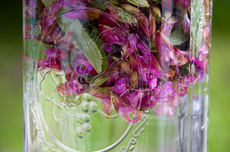 18/100: sage blossom infused vinegar