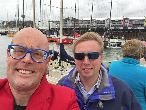 Marc and Vincent Everts at the Volvo Ocean Race