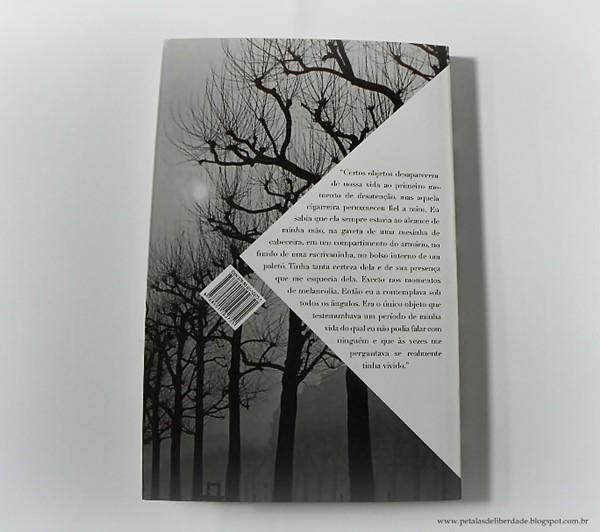 Contracapa livro Remissão da pena, Patrick Modiano