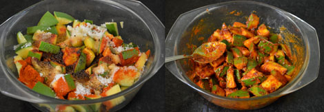 how to make cut mango pickle