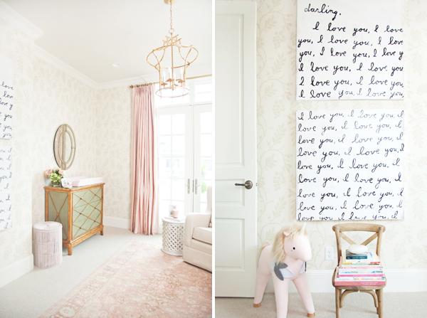 Pink Peonies Baby Nursery Design