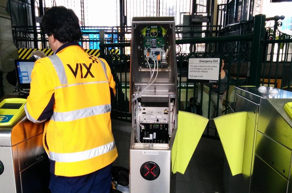 Myki gates being repaired
