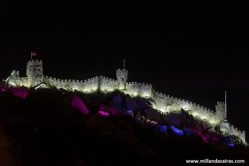 Castelo dos Mouros de noche