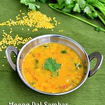 Easy moong dal sambar