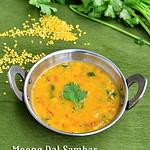 Easy moong dal sambar