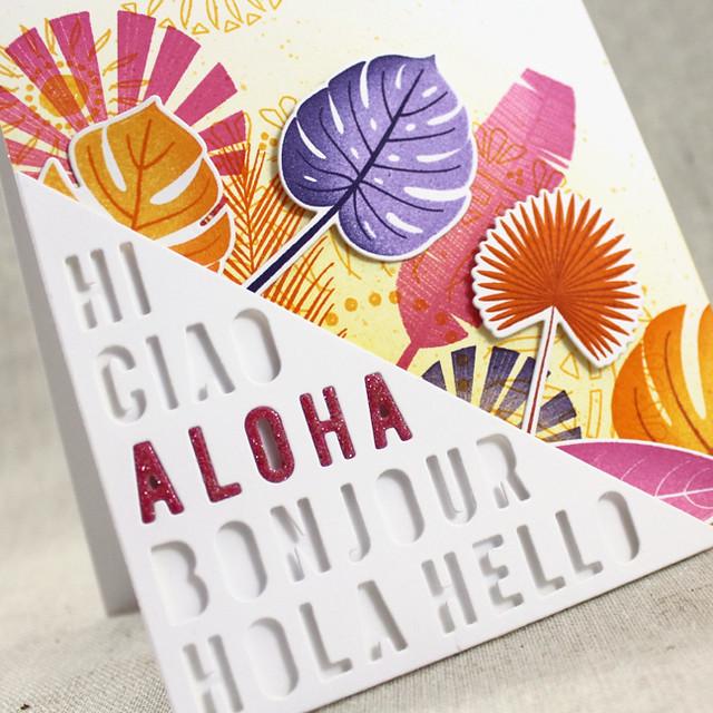 Aloha Card Sentiment Close Up