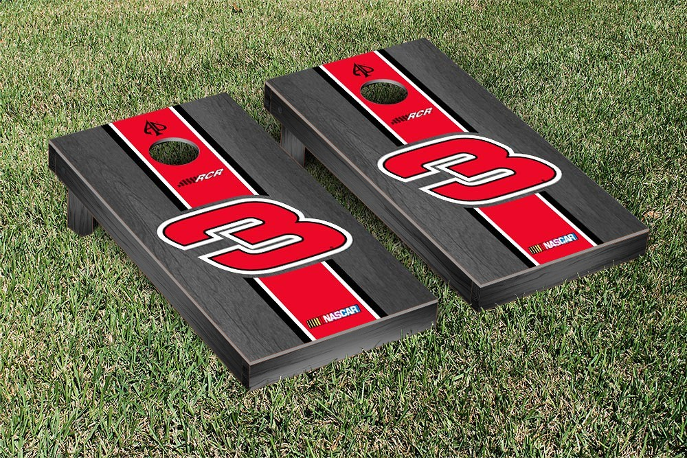 AUSTIN DILLON #3 CORNHOLE GAME SET ONYX STAINED STRIPE VERSION