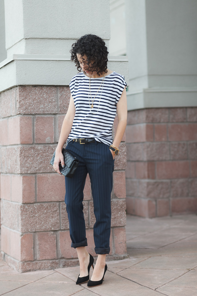 Slouchy Pinstripes