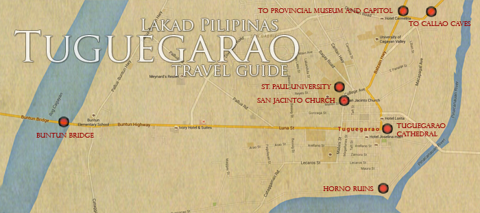 Tuguegarao Tourist Spots Map