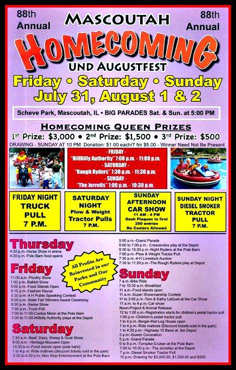 Mascoutah Homecoming 7-31, 8-1, 8-2-15